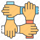 collaboration, cooperation, coordination, handshake, teamwork icon