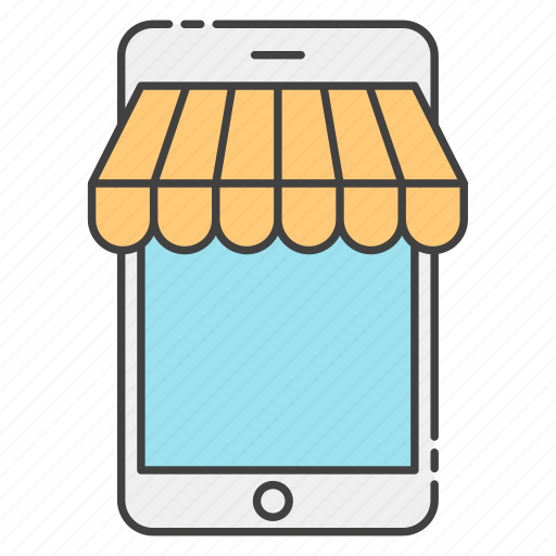 ebanking, mcommerce, mobile shop, mobile shopping, online store icon