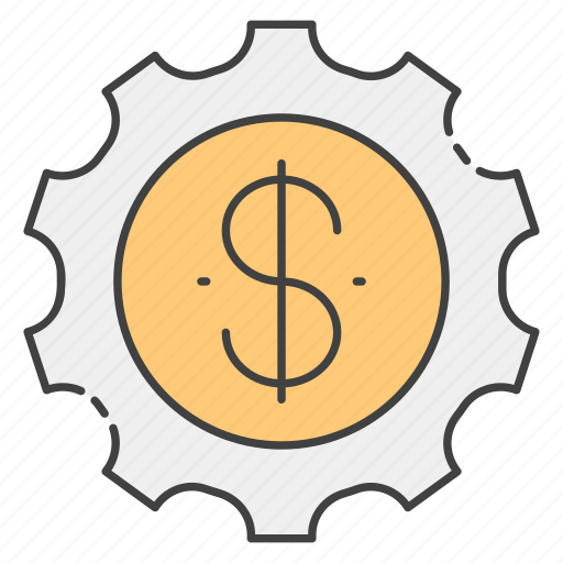 business efficiency, business productivity, finance management, financial productivity, financial setting icon