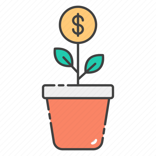 business advancement, business growth, financial growth, money plant, potted plant icon