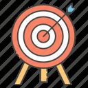 aim, archery, bullseye, goal, objective, target icon