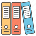 archives, binders, document, files, folder icon