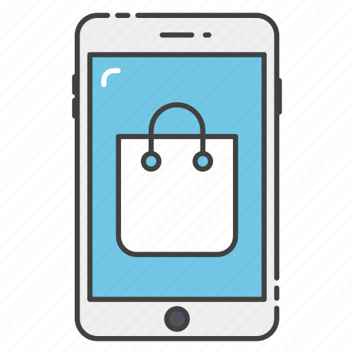 e commerce, m commerce, mobile banking, mobile shopping, online shopping icon
