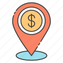 business gps, business location, financial location, financial navigation, financial place icon