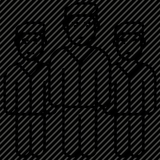 business people, group, leadership, supervisor, team icon