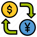 currency, money, money exchange icon
