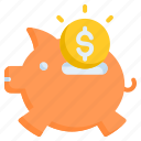 investment, penny bank, piggy bank icon