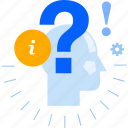 assistance, faq, help, info, information, question, support icon
