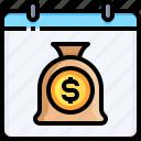 money, payment, schedule, calendar, bag, administration