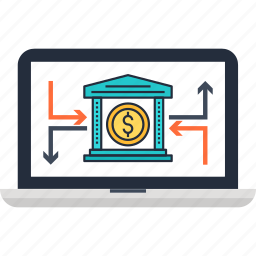 banking, business, commerce, online, transaction icon