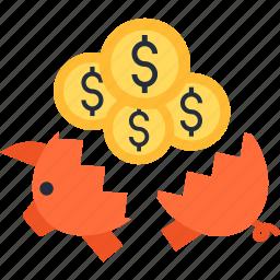 bank, coin, deposit, money, pig, piggy, safe icon