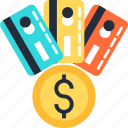 card, cash, coin, commerce, credit, dollar, money icon