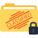 classified, folder, lock, locked icon