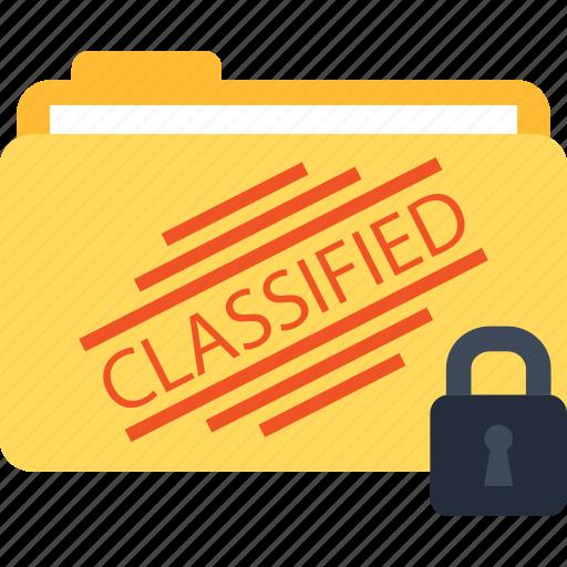 classified, folder, lock, locked icon