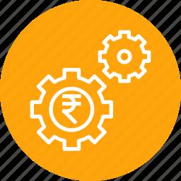 gear, management, marketing, money, optimization, seo icon