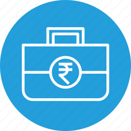 budget, funding, indian, investment, rupee, startup icon