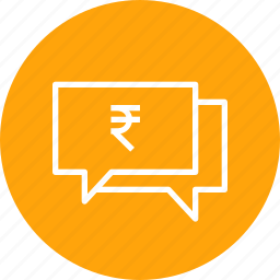 business, chatting, finance, message, money, talk icon