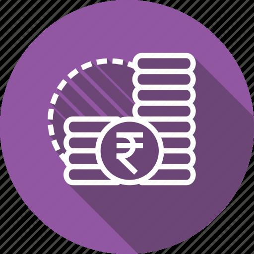 cash, coins, finance, indian, money, rupee icon