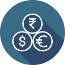 coin, currency, dollar, euro, indian, money, rupee