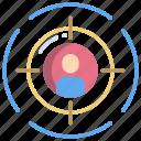 user, target