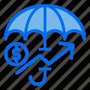 protection, umbrella, money, investment