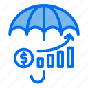 umbrella, investment, money, growth, protection