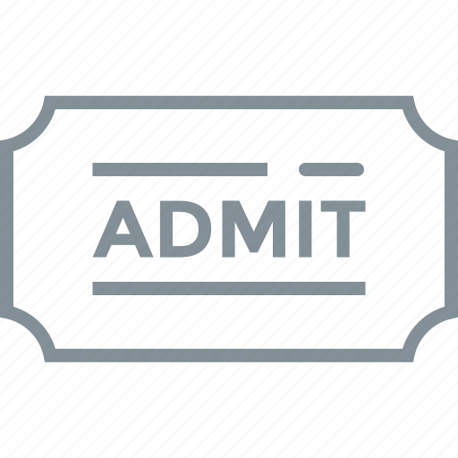 admit, concert, event, fees, paid, payment, ticket icon