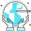 business, earth, globe, guardar, holding, marketing, save, travel icon