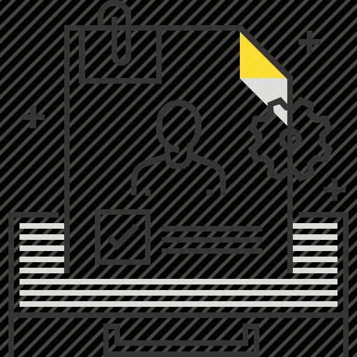 employee, employment, folder, job, peper, professional, resume icon