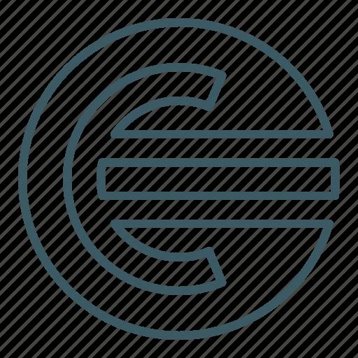 coin, euro, finance, money icon