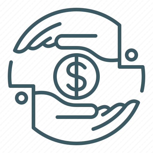 give, hand, money, purchase, share, trade, transaction icon