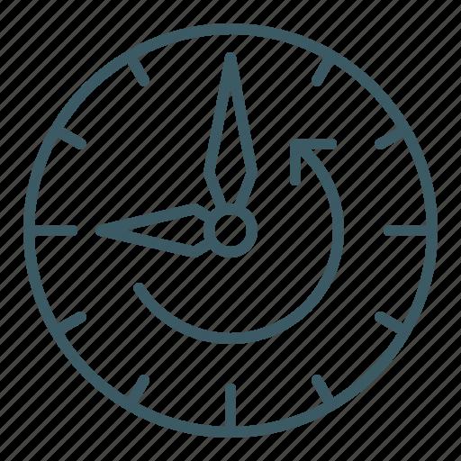 backward, clock, reverse, time icon