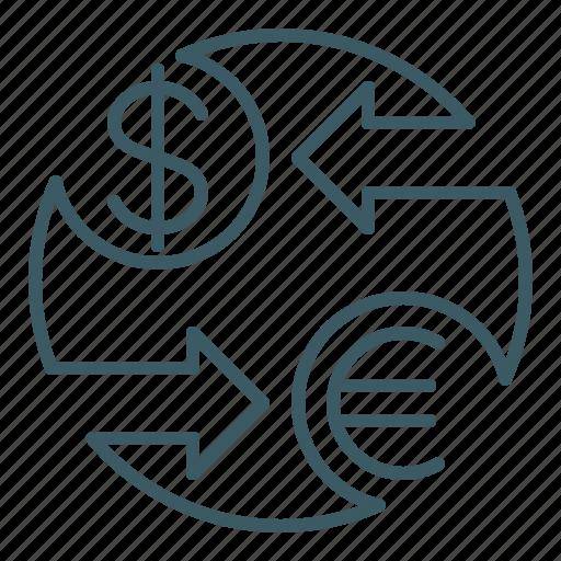 exchange, finance, forex, money, trade, transaction icon