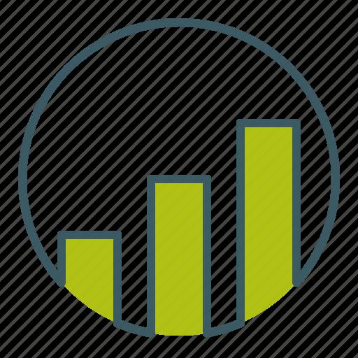 analysis, ascending, bar, chart, graph, growth, statistics icon
