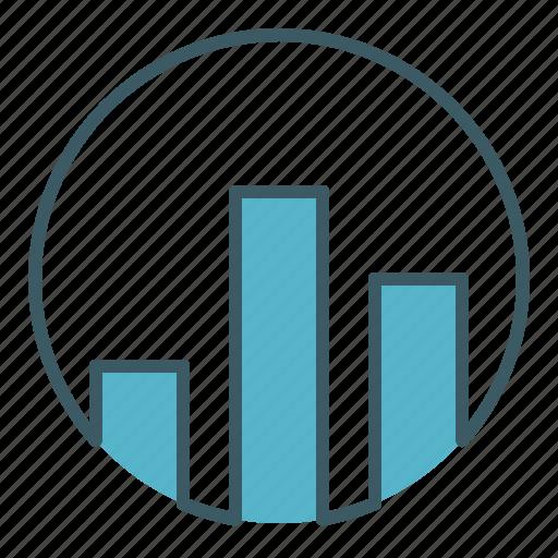 analysis, bar, chart, circle, column, graph, statistics icon