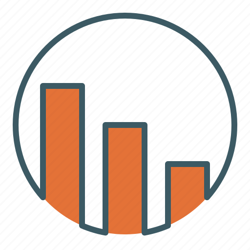 analysis, bar, chart, decrease, descending, graph, statistics icon