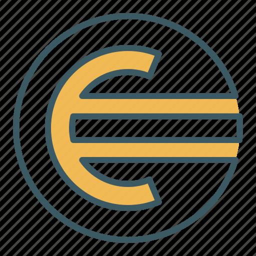 circle, coin, euro, finance, money icon
