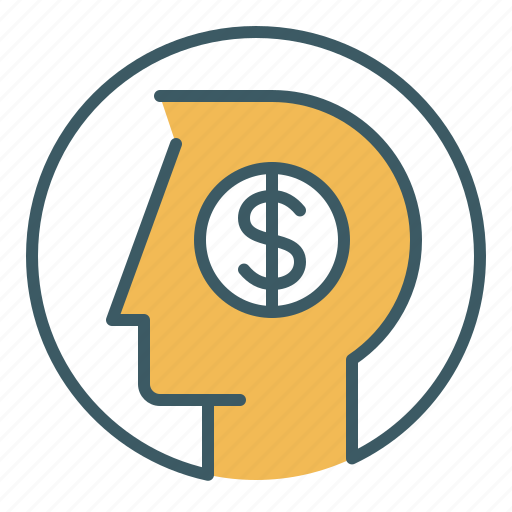 circle, finance, mind, money, person, think, thought icon