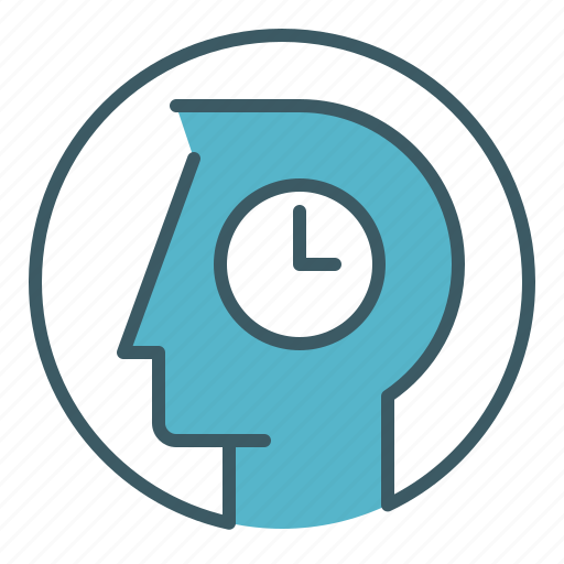 circle, head, idea, management, person, think, time icon
