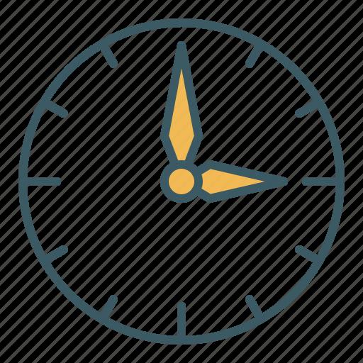 circle, clock, time, watch icon