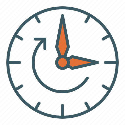 circle, clock, forward, haste, hurry up, time icon