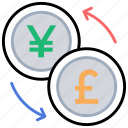 bank transfer, currency exchange, currency interchange, money transfer, transaction icon