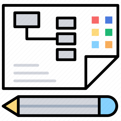 business management, business report, financial reports, planning, sheet icon