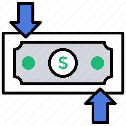 income, money exchange, money transfer, monthly income, paycheck icon