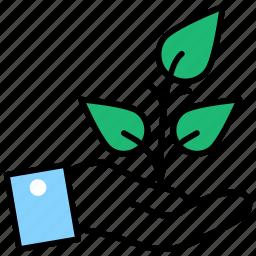 environmental friendly, financial growth, growth, preserving environment, protecting environment icon