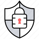 locked, password protected, protection service, protective banking, security icon