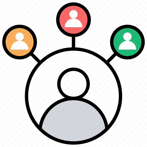 accountants, connections, customers, multiple accounts, multiple transactions icon