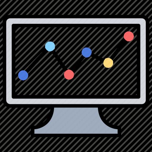 bar chart, economic chart, financial report, pie chart, point chart icon