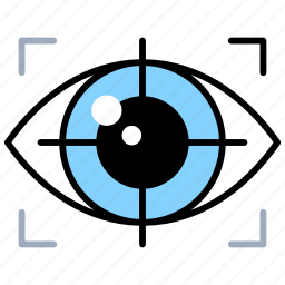 future objectives, future planning, investigation, observation, vision icon