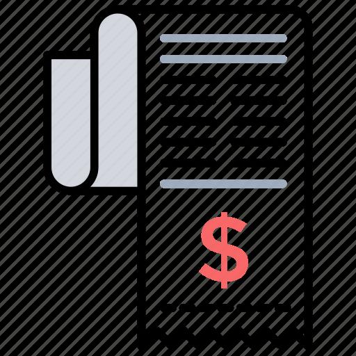 accounts statement billing sheet credit card bill financial